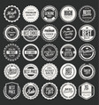 retro vintage badges and labels collection 1 vector image