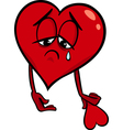 Sad broken heart cartoon