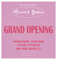 salon grand opening vector image