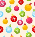 Seamless Christmas pattern with xmas ball vector image vector image