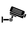 security camera icon black vector image