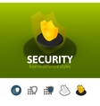 Security icon in different style vector image vector image