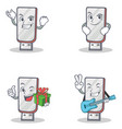 set of flashdisk character with succesfull vector image vector image