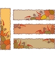 Set of four autumn banners