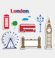 set stickers for journey to london vector image vector image