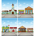 Shops and places vector image vector image