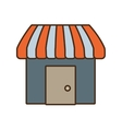 store building shop isolated icon vector image vector image