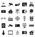 surveillance cameras icons set simple style vector image vector image