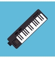 synthesizer music instrument graphic icon vector image vector image