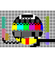 television test pattern vector image vector image
