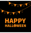 Triangle paper flags Happy Halloween Lettering vector image vector image