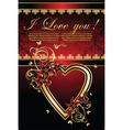 Valentines greetings card vector image