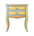 vintage bedside table icon cartoon style vector image