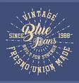 vintage blue jeans vector image