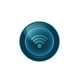 web button wifi on white background design vector image vector image