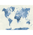 World map in watercolor blue vector image vector image
