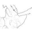 world map nubia ethiopia somalia kush punt vector image vector image