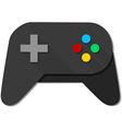 Game Console Black Joystick vector image