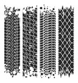 tire tracks with grunge texture rubber vector image