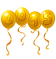 2015 new year balloons vector image