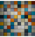 Abstract background - retro squares vector image vector image