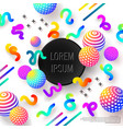 abstract colorful composition with decorative vector image