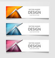 abstract web banner design background or header vector image vector image