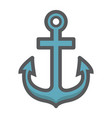 anchor filled outline icon navigation nautical vector image