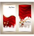 beauty christmas card background vector image