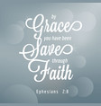 bible quote typography vector image vector image