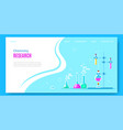 chemistry concept banner design with laboratory vector image vector image
