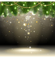 Christmas background with confetti vector image vector image