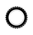 circle seal stamp on white background vector image vector image