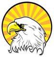 colored egle vector image