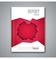Cover Report Business Colorful Red Polygonal Hole vector image vector image