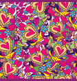 creative holidays seamless pattern for valentines vector image