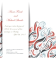 Curl abstract wedding card with multicolored waves vector image vector image