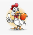cute chicken mascot vector image vector image