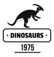 dinosaur lizard logo simple black style vector image vector image