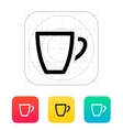 Empty coffe cup icon vector image vector image