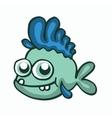 Fish smile happy t-shirt design for kids vector image