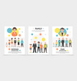 flat people generation posters vector image vector image