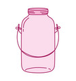 full color long mason glass with wire handle vector image vector image