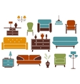 Furniture and interior design elements vector image vector image