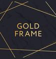 gold frame geometric shape minimalism design vector image vector image
