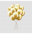 golden balloons sheaf vector image vector image