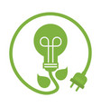 green eco power lightbulb image vector image vector image