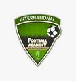 green soccer logo football logotype vector image vector image