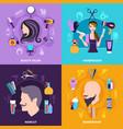 hairdresser concept set vector image vector image