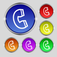 handset icon sign Round symbol on bright colourful vector image vector image